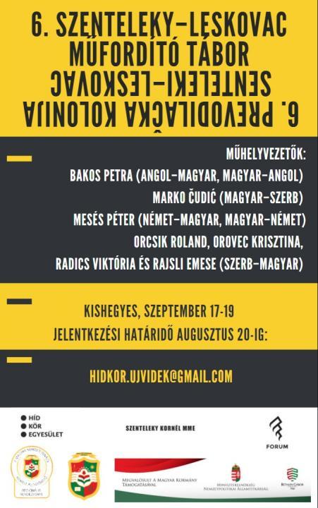 VI. Szenteleky–Leskovac Műfordítótábor