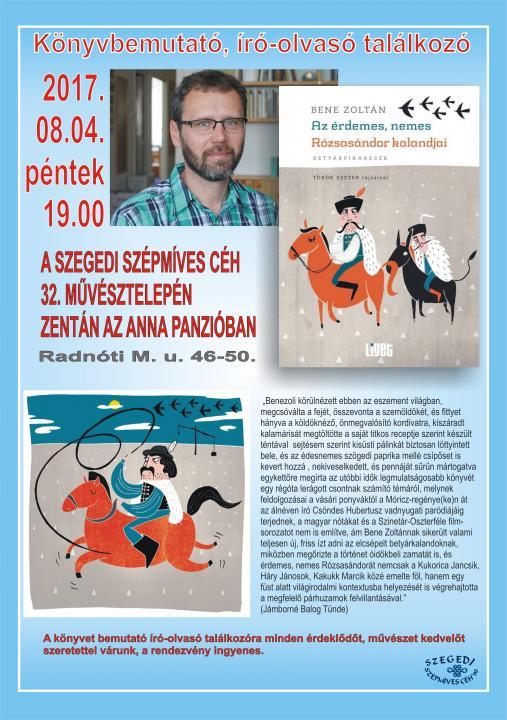Bene Zoltán Könyvbemutató, író-olvasó találkozó