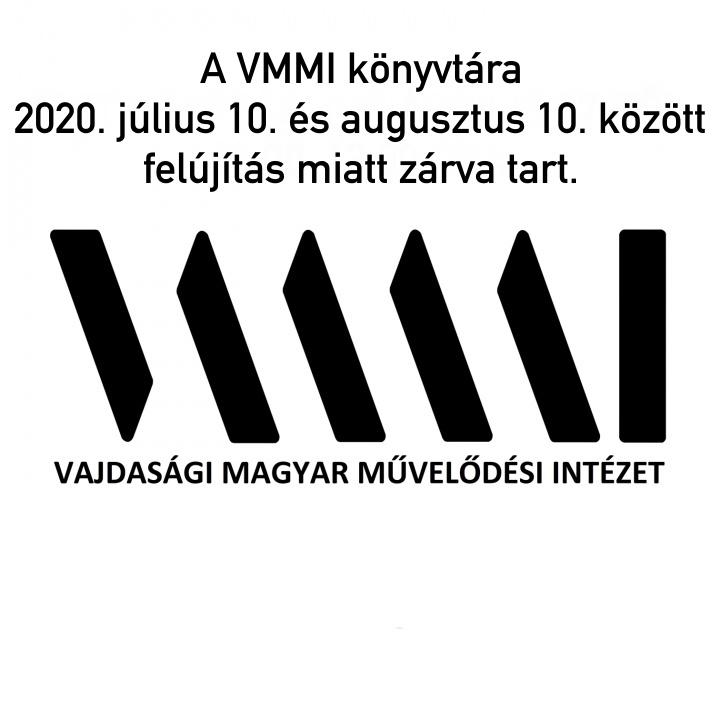 Értesítés a könyvtár zárva tartásáról (2020.7.10–08.10.)