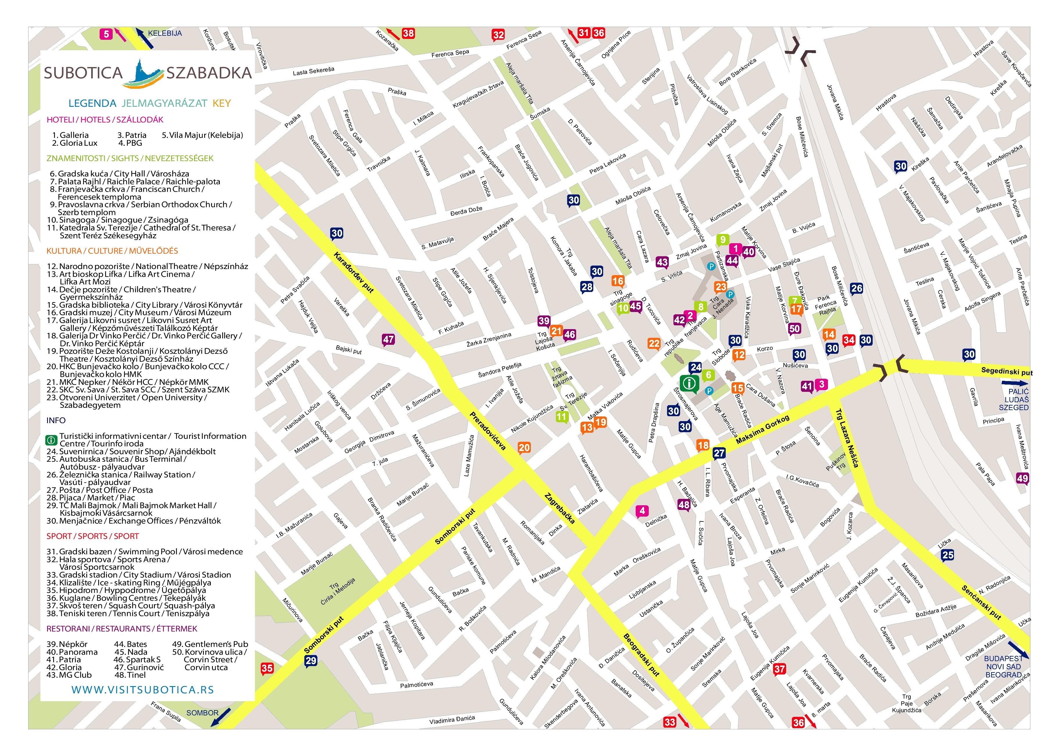 szabadka térkép Vajdasági Magyar Digitális Adattár szabadka térkép